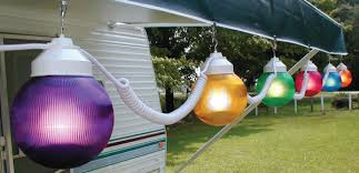 rv awning lights exterior polymer products 1661 00523 6 inch multi color globe string lights