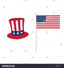 American Flag To Color American Flag Hat Icon Color Art Stock Vector 591520895 Shutterstock