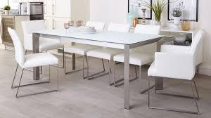 White Glass Extending Dining Table White Frosted Glass Extending Dining Table 4 To 8 Seater