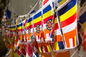 Flag Prayer Buddhist Prayer Flags In Kandy Sri Lanka Stock Photo Picture And