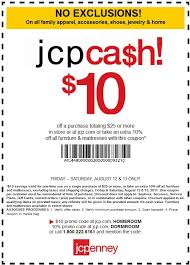 jcpenney in store coupon for tax free shopping saving