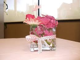 baby shower flower centerpieces pink flower centerpieces baby shower pail centerpiece for