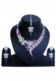 purple stone necklace set images Purple jewelry buy purple necklaces earrings bangles more jpg