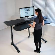 Ergo Standing Desk by Dual Surface Flexo Level3 Standing Desk With Motorized Or Crank