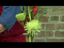 Flower Arrangements For Tall Vases How To Decorate A Tall Vase Floral Design Youtube