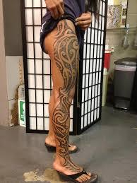 hd leg tribal tattoos design idea for and
