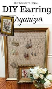 diy earring organizer our southern home