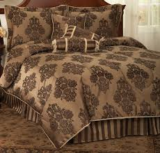 Damask Comforter Sets Golden Damask Queen Or King Comforter Set With Bonus Pillows 7