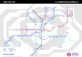 London Metro Map by Night London Underground Map London Tube Map With Zone 1 9