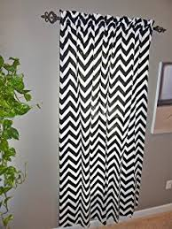 Gray And White Chevron Curtains Amazon Com Black And White Chevron Window Treatment Zig Zag