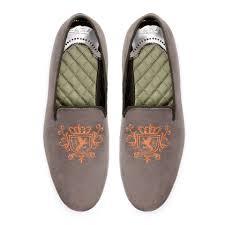 embroidered velvet moccasin shoes man zara united states