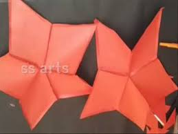 how to make paper christmas star at home christmas star with