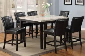 Kitchen Table Marble Top by Marion Marble Top Espresso Counter Dining Table And Chairs 5