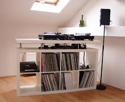 Ikea Audio Rack Hidden Turntable Record Player Using An Ikea Pull Out Besta