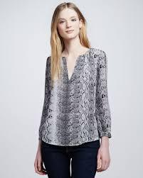 snake print blouse joie pearline snake print blouse