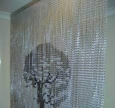 Room Divider Beads Curtain - chain room dividers metal bead curtain used office room dividers