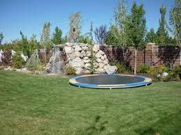 enchanting trampoline small backyard pictures design ideas amys