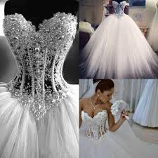 Budget Wedding Dresses Real Picture 2016 White Ball Gown Wedding Dresses Sweetheart See