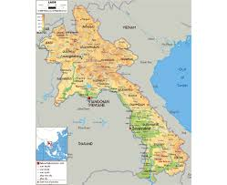 Physical Map Of Asia by Maps Of Laos Detailed Map Of Laos In English Tourist Map