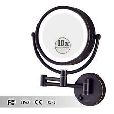 Magnifying Bathroom Mirror With Light Large Led Lighted 10x Magnifying Makeup Mirror Hardwire Wall