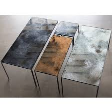 Mirrored Top Coffee Table Notre Monde Charcoal Patchwork Coffee Table 20711 Heavy Aged