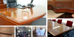 wood desk with glass top custom glass table tops for wood furniture in chicago