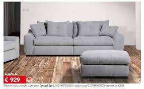 canap toff meubles toff promotion salon en tissu au style cosy canapé