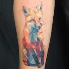 geo fox by pineapple tattoos