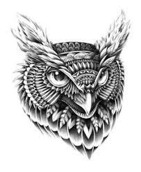 evil owl head tattoo google search tatts pinterest head