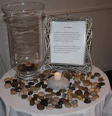 wedding wishing stones pebble ceremony as the guests arrive for your ceremony a