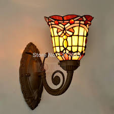 Stained Glass Wall Sconce Antique Style Baroque Wall L Stained Glass Wall Sconce