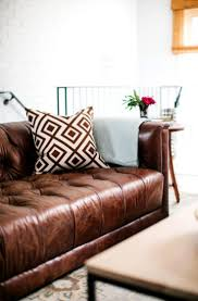 home decor brown leather sofa living room decor brown leather couch
