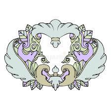 beautiful cute vintage tattoo frame stock vector image 63036544
