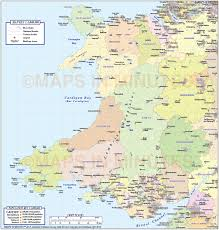 British Isles Map Blank by Wales 1st Level Political Map With Strong Relief 1m Scale In