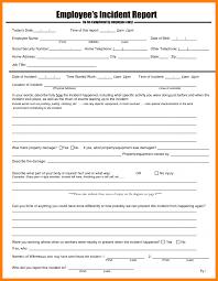 8 employee incident report form template job resumed