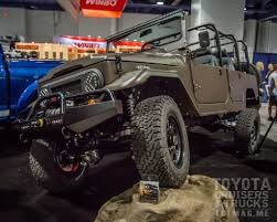 icon land cruiser sema show 2015 tuesday photos toyota cruisers u0026 trucks magazine