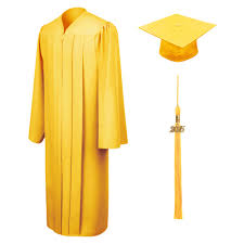 cap and gown matte gold bachelor cap gown tassel graduation cap and gown