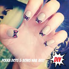 cute bow nail art diy burkatron