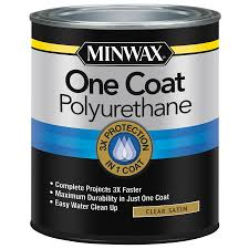 clean polyurethane shop minwax 32 fl oz satin water based polyurethane at lowes com