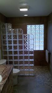 glass block designs for bathrooms glass block window in shower bathroom contemporary with bath