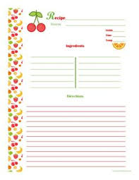 make a family cookbook diy recipe book templates and page template