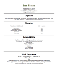 Sample Objectives In A Resume by 12 Free High Student Resume Examples For Teens