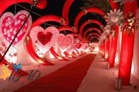 Stage Decoration For Valentine S Day by Wedding Decorators In Delhi By 10on10decorations Com