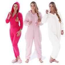 best plus size fluffy fleece onesie pink pink sleepwear