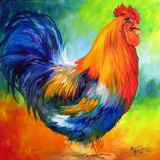 red rooster by marcia baldwin