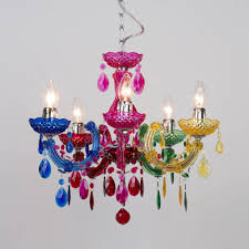 Multi Coloured Chandeliers Therese 5 Light Dual Mount Chandelier Multicoloured