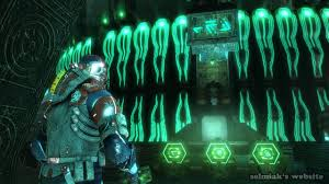 dead space 3 kill or be killed chapter 18 letters alien symbols
