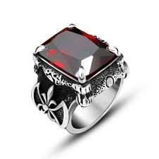metal stone rings images 2017 european dragon claw ring with red blue black stone stainless jpg