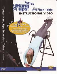 teeter inversion table amazon amazon com teeter ep series inversion table instructional dvd