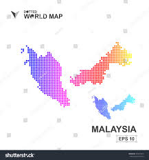 Map Of Malaysia Map Malaysia Dotted Vectorabstract Computer Graphic Stock Vector